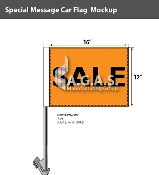 Sale Car Flags 12x16 inch (Orange & Black)