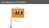 Sale Premium Car Flags 10.5x15 inch (Orange & Black)