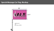 Sale Premium Car Flags 10.5x15 inch (Pink & Black)