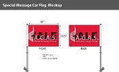 Sale Premium Car Flags 10.5x15 inch (Red & Black)