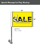 Sale Car Flags 12x16 inch (Yellow & Black)