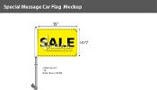 Sale Premium Car Flags 10.5x15 inch (Yellow & Black)