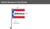 Patriotic Specials Premium Car Flags 10.5x15 inch