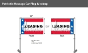 Patriotic Leasing Premium Car Flags 10.5x15 inch