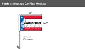 Patriotic Lowest Prices Premium Car Flags 10.5x15 inch