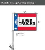 Patriotic Used Trucks Car Flags 12x16 inch