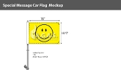 Smiley Face Premium Car Flags 10.5x15 inch