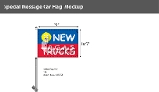 New Trucks Smiley Premium Car Flags 10.5x15 inch