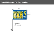 Electric Car with Bolt Premium Car Flags 10.5x15 inch