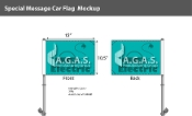 Electric Car Premium Car Flags 10.5x15 inch
