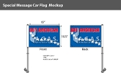 Buy American Premium Car Flags 10.5x15 inch