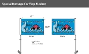 Holiday Sale with Car Premium Car Flags 10.5x15 inch