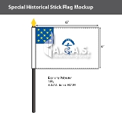 Rhode Island Regiment Stick Flags 4x6 inch