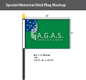 Green Mountain Boys Stick Flags 4x6 inch