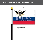 Russian American Company Stick Flags 4x6 inch