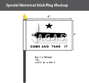 Come & Take It Stick Flags 4x6 inch