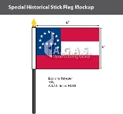 General Lee's HQ Stick Flags 4x6 inch