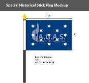 Washington's Commander & Chief Stick Flags 4x6 inch