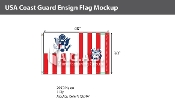 USA Coast Guard Ensign Flags 30x48 inch