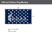USA Jack Deluxe Flags 21x37 inch