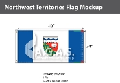 Northwest Territories Flags 2x4 foot (Official ratio 1:2)