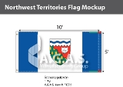 Northwest Territories Flags 5x10 foot (Official ratio 1:2)