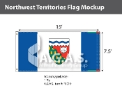 Northwest Territories Flags 7.5x15 foot (Official ratio 1:2)