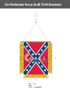 Confederate Navy Jack Mini Banners 4.75x3.5 inch