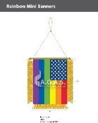 New Old Glory Pride  Mini Banners 4.75x3.5 inch