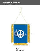Peace Mini Banners 4.75x3.5 inch