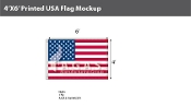 USA Flags 4x6 foot
