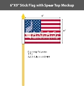 USA Stick Flags 6x9 inch