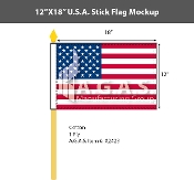 USA Stick Flags 12x18 inch