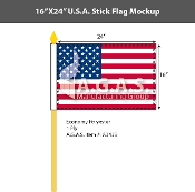 USA Stick Flags 16x24 inch
