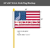 USA Stick Flags 24x36 inch