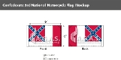 Confederate 3rd National Motorcycle Flags 6x9 inch