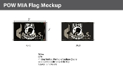 POW MIA Flags 3x5 foot (black & white)