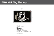 POW MIA Flags 4x6 foot (black & white)