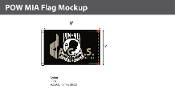 POW MIA Flags 5x8 foot (black & white)
