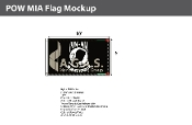 POW MIA Flags 6x10 foot (black & white)