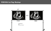 POW MIA Car Flags 10.5x15 inch Premium (black & white)
