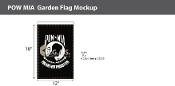 POW MIA Garden Flags 18x12 inch (black & white)