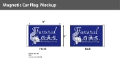 Funeral Car Flags 6x9 inch Magnetic (purple)
