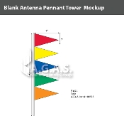 Multi Colored Antenna Pennant Towers 32 inch