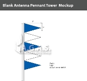 Blue & White Antenna Pennant Towers 32 inch