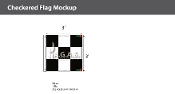 3x3 Checkered Flags 3x3 foot
