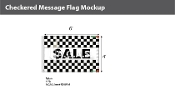 Sale Checkered Flags 4x6 foot