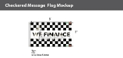 We Finance Checkered Flags 3x5 foot