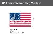 USA Embroidered Flags 2x3 foot (Made in the USA)