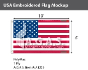 USA Embroidered Flags 6x10 foot (Made in the USA)